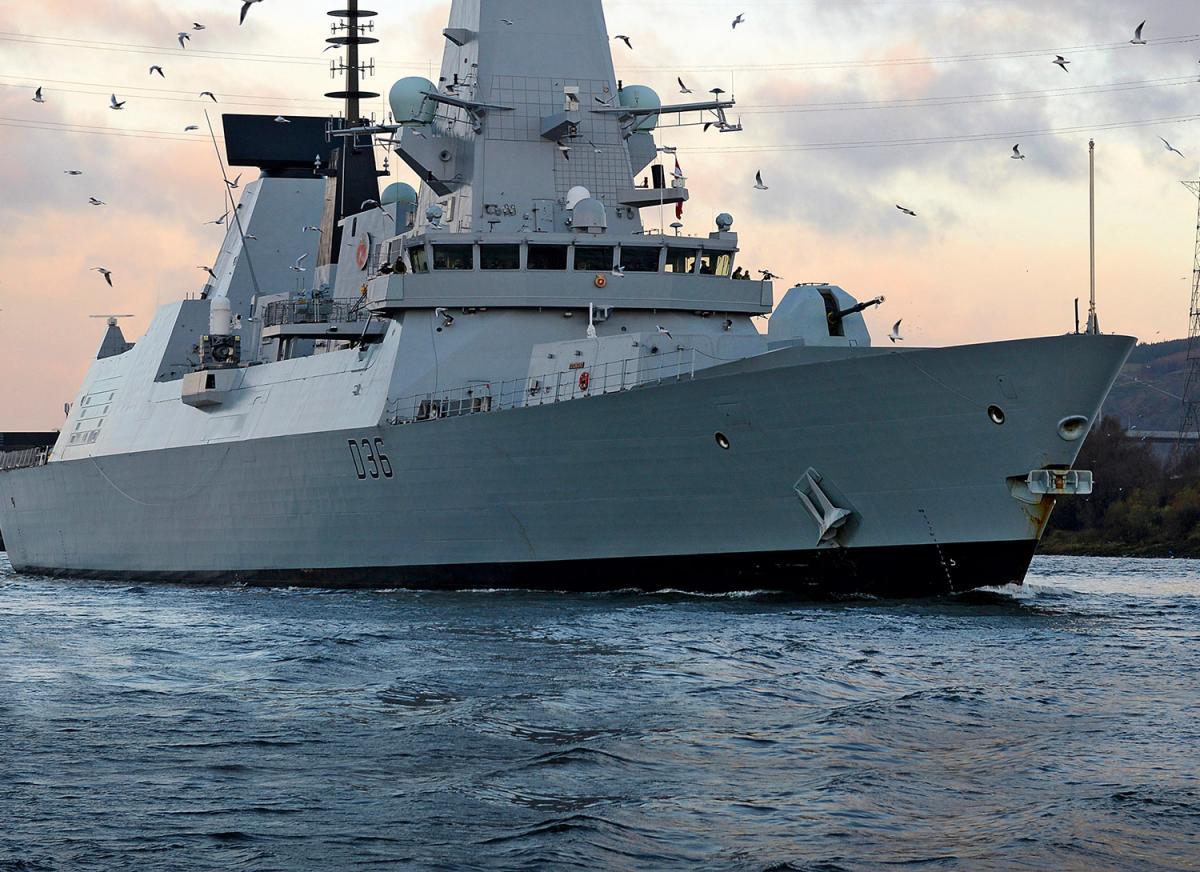 В РФ заявили об обстреле британского эсминца / фото royalnavy.mod.uk