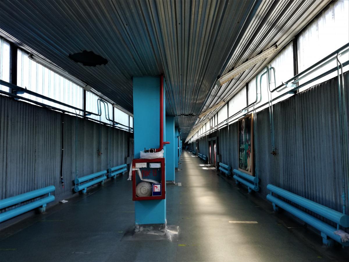 Електричка приїжджає ось в такий тунель/ фото Марина Григоренко
