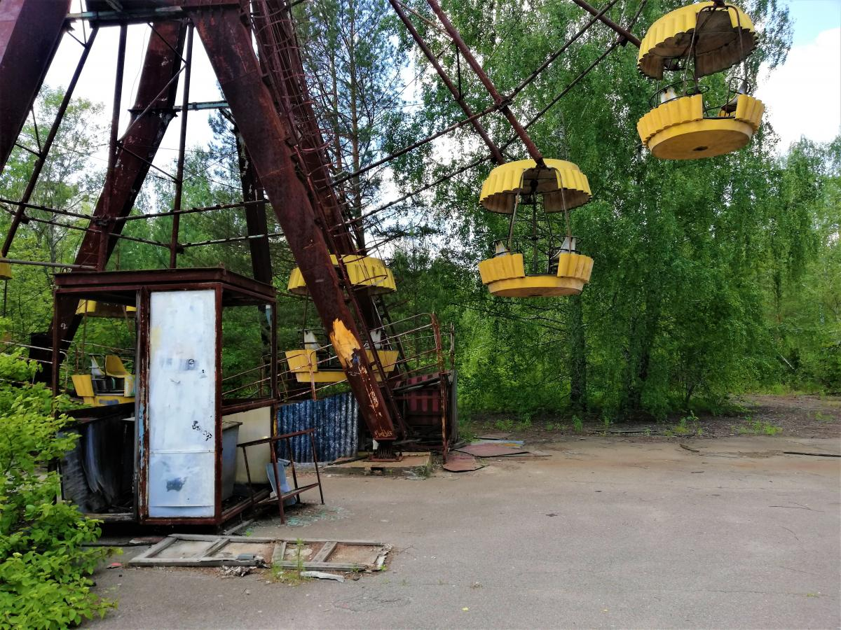 Те саме колесо огляду в Прип'яті жодного разу не запустили / фото Марина Григоренко