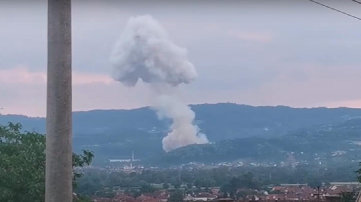 У Чачаку прогримів вибух / скріншот