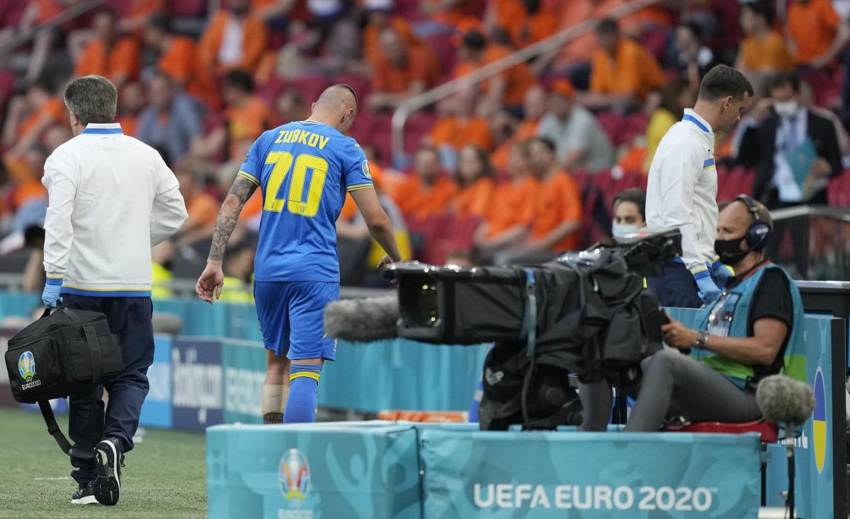 Александр Зубков получил травму на старте Евро-2020 / фото REUTERS