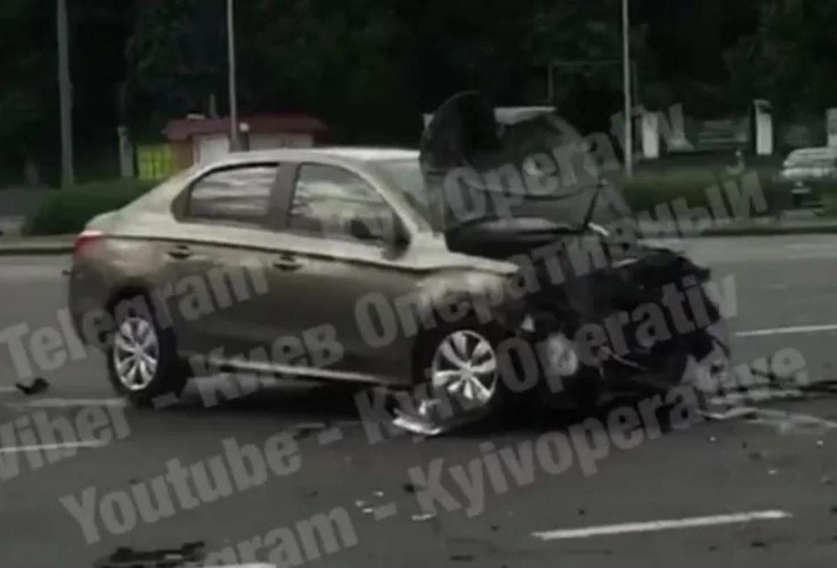 Авария произошла сегодня утром/ скриншот из видео