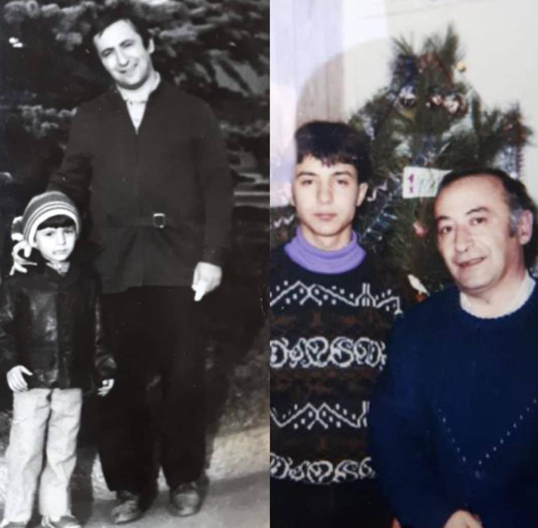 Зеленский с отцом / фото t.me/V_Zelenskiy_official