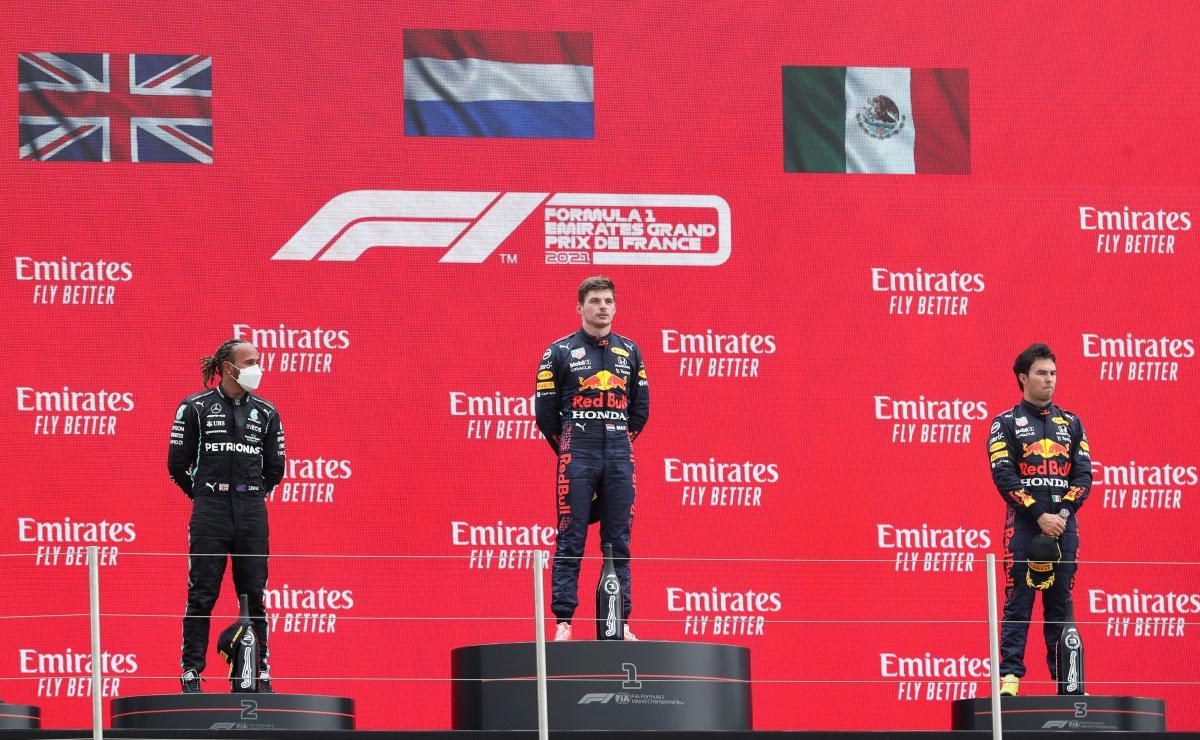 Трійка призерів Гран-прі Франції / фото REUTERS
