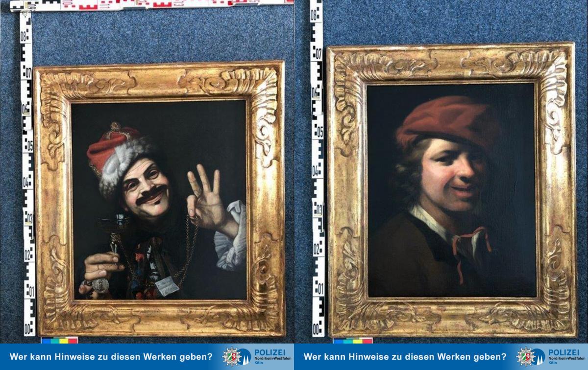 В Германии на мусорке нашли картины 17 века / фото twitter.com/polizei_nrw_k