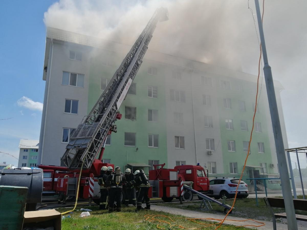 Возгорание локализовали в 16:28 / фото kv.dsns.gov.ua