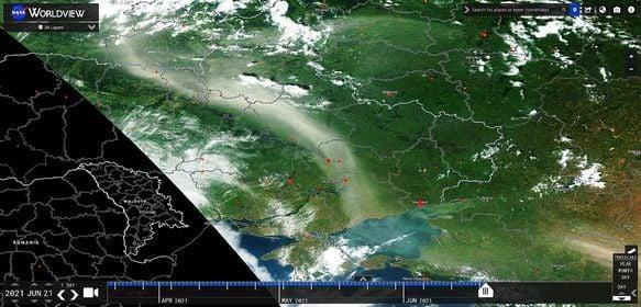 Ветер принес пылевую бурю из России / фото Facebook/Валерий Латуха