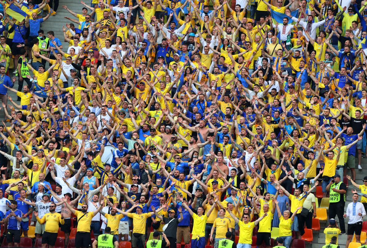 Вболівальники збірної України під час поєдинку з Австрією / фото REUTERS
