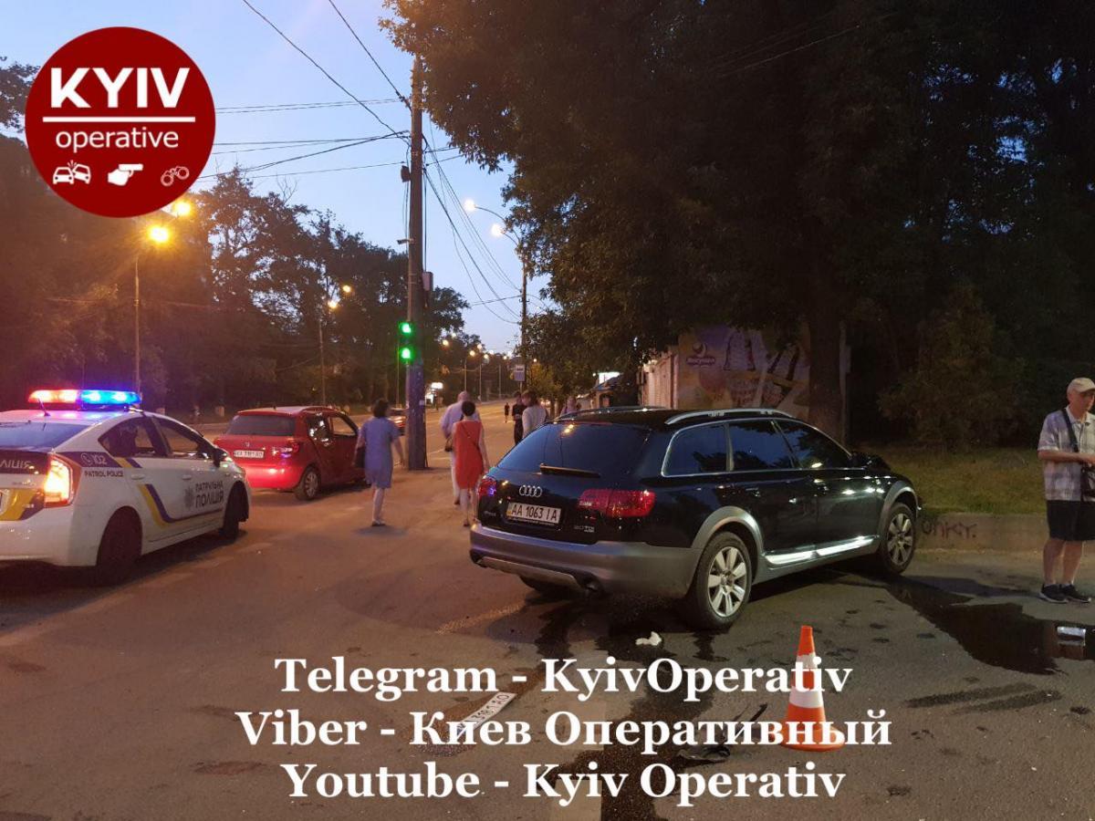 Фото с места аварии / фото: Киев Оперативный Facebook