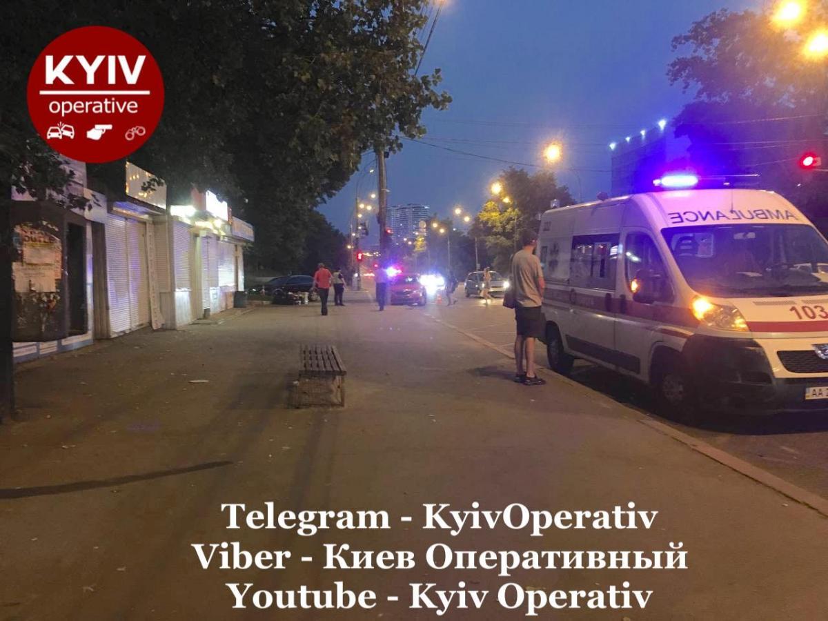 ДТП произошло в Голосеевском районе / фото: Киев Оперативный Facebook
