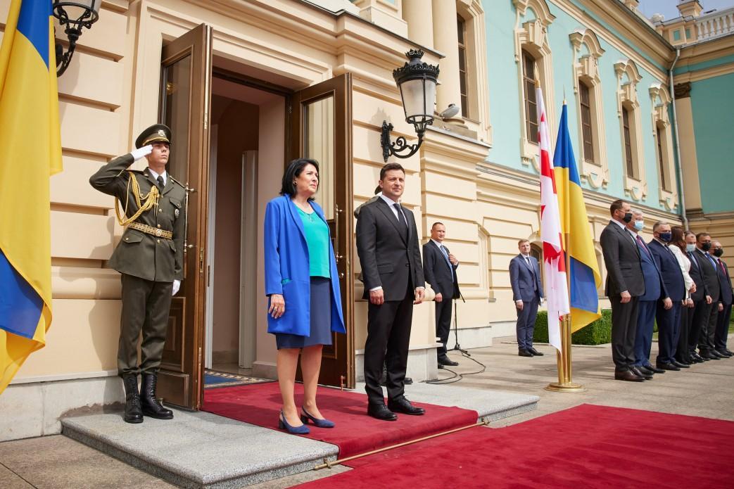 Сьогодні проходить офіційна зустріч Зеленського та Зурабішвілі / president.gov.ua
