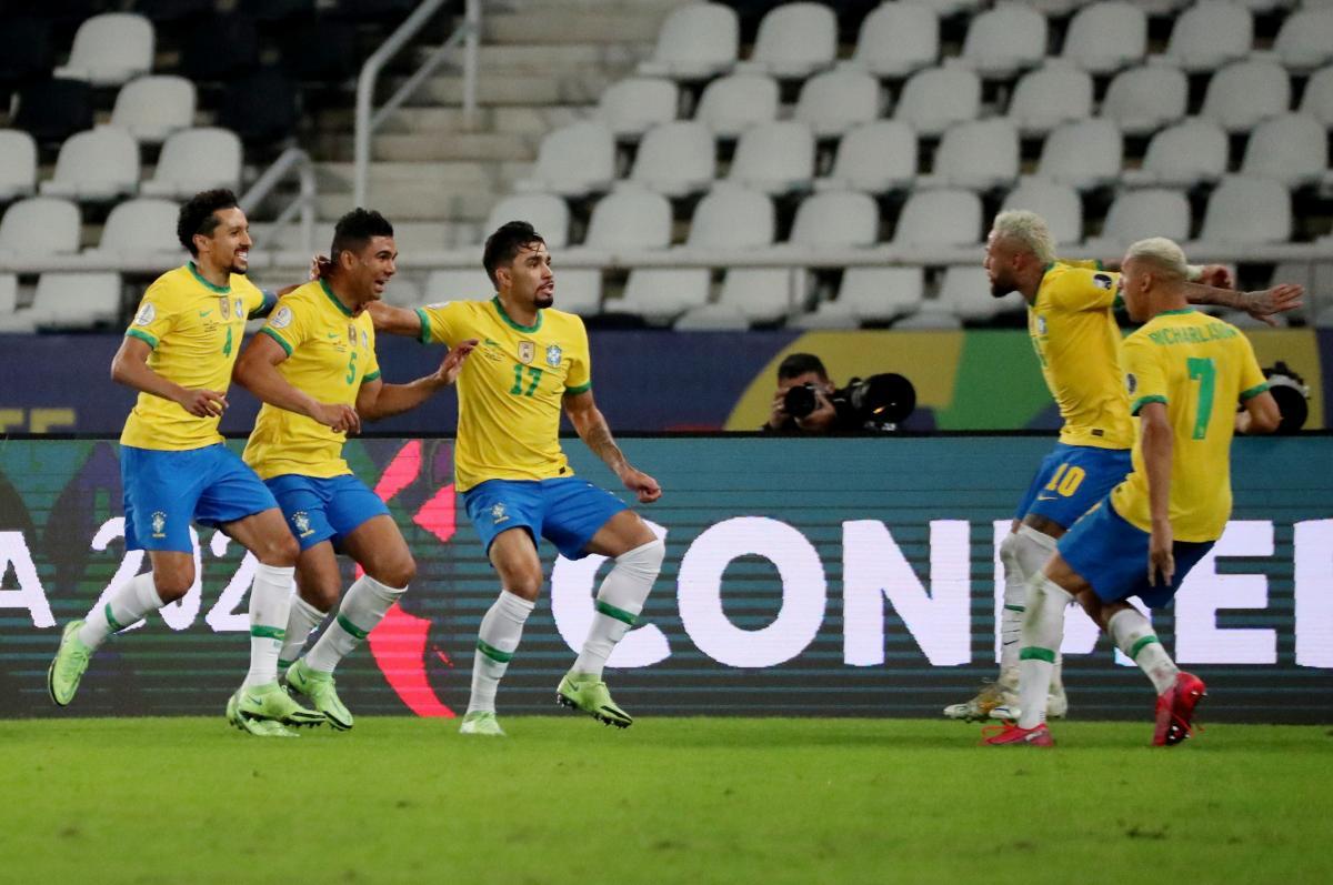 Игроки сборной Бразилии / фото REUTERS