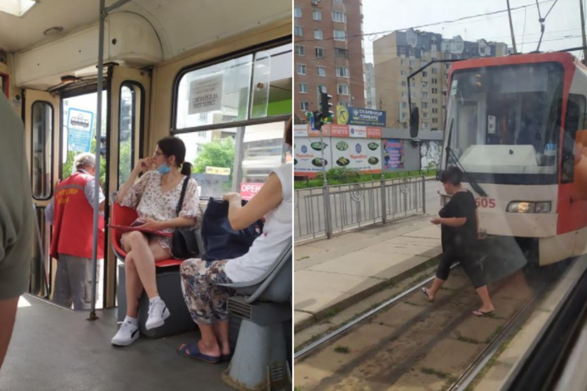 Водителю трамвая стало плохо во время движения / фото facebook.com/Kiev.transport.community