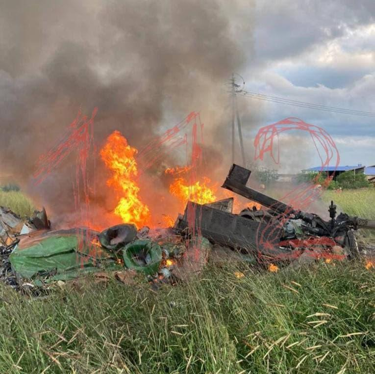 """Rosguardia helicopter crashes near St. Petersburg / photo Telegram-channel """"112"""""""