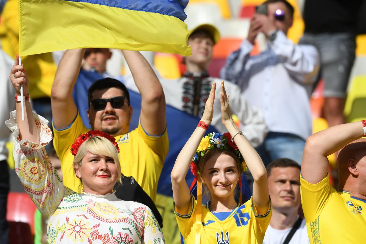 Болельщики сборной Украины / фото REUTERS