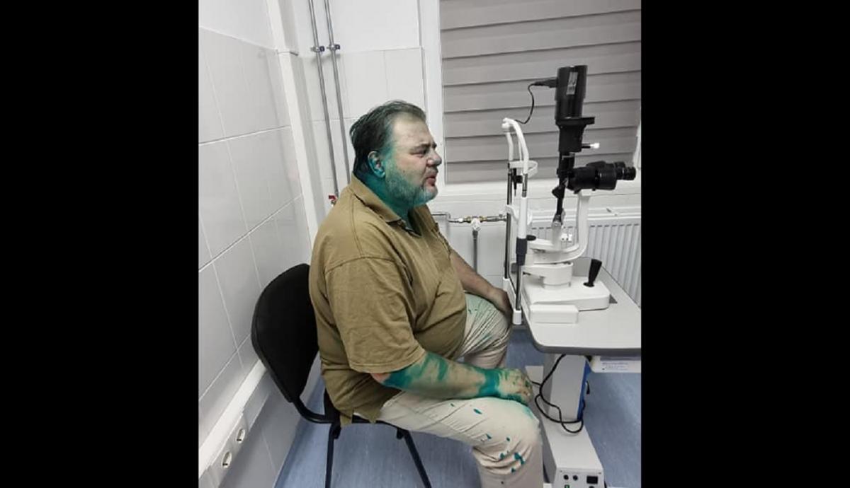 Коцаба получил химический ожог глаза / Facebook / Руслан Коцаба
