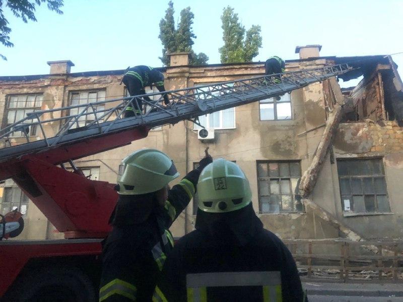 Причина обрушения на Молдаванке пока не называется/ фото od.dsns.gov.ua