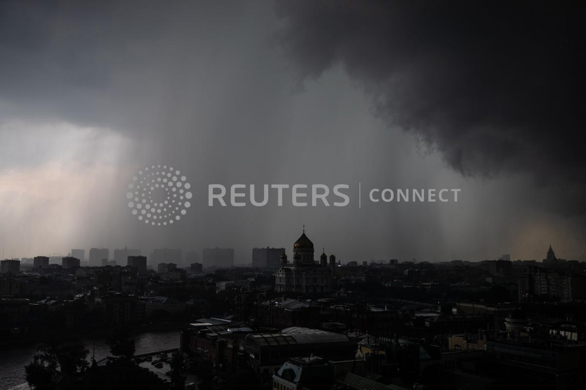Москву накрыл мощнейний ураган/ фото REUTERS