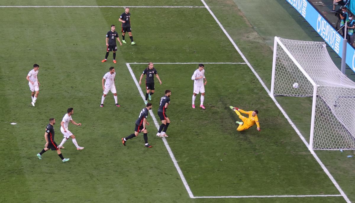 Момент з першим голом у ворота Хорватії / фото REUTERS