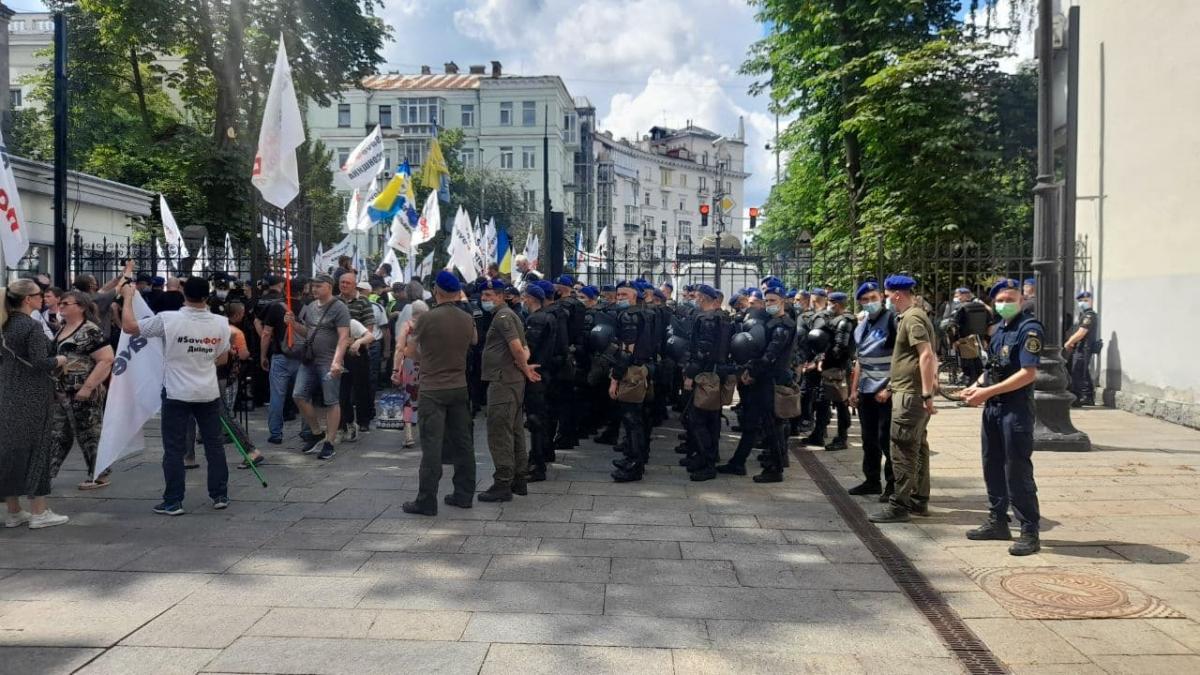 "Протесты ""ФОПов"" на Банковой / фото УНИАН, Дмитрий Хилюк"