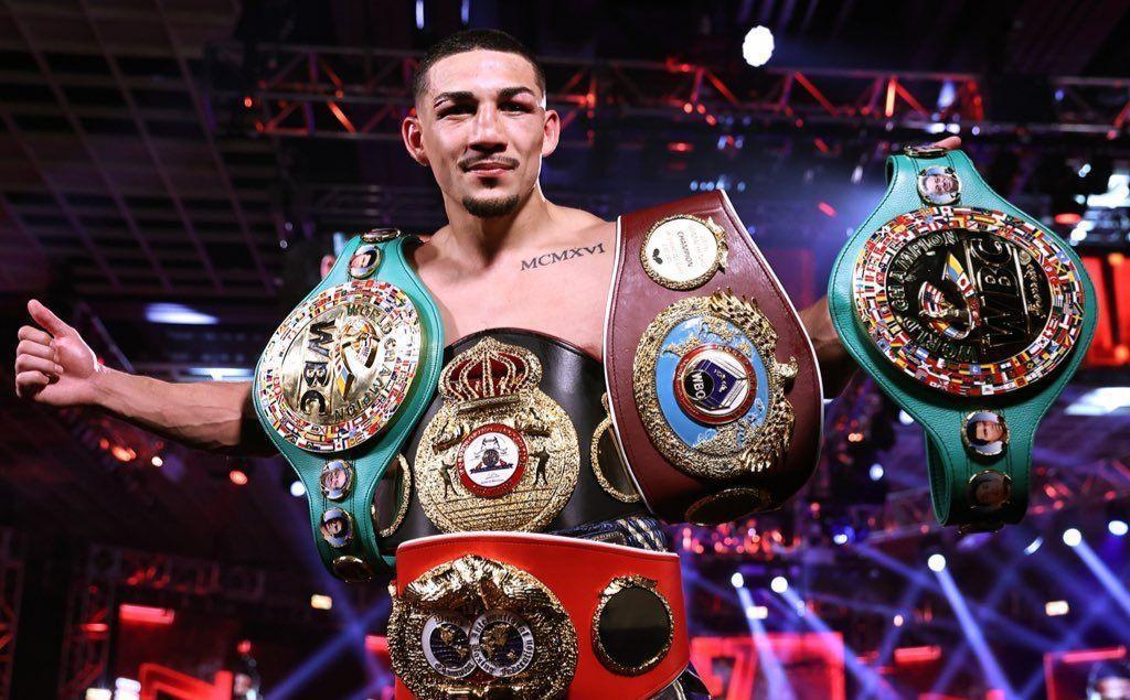Теофимо Лопес стал абсолютным чемпионом мира / фото twitter.com/trboxeo