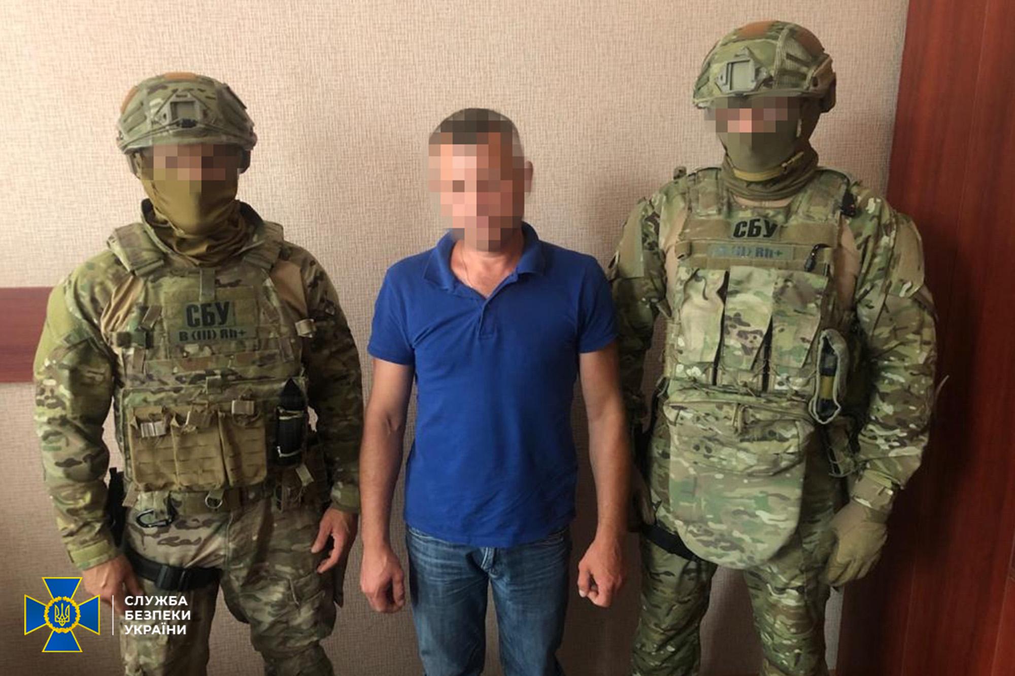Контррозвідники СБУ затримали чоловіка, який прибув у Київську область для легалізації як внутрішній переселенець / фото СБУ