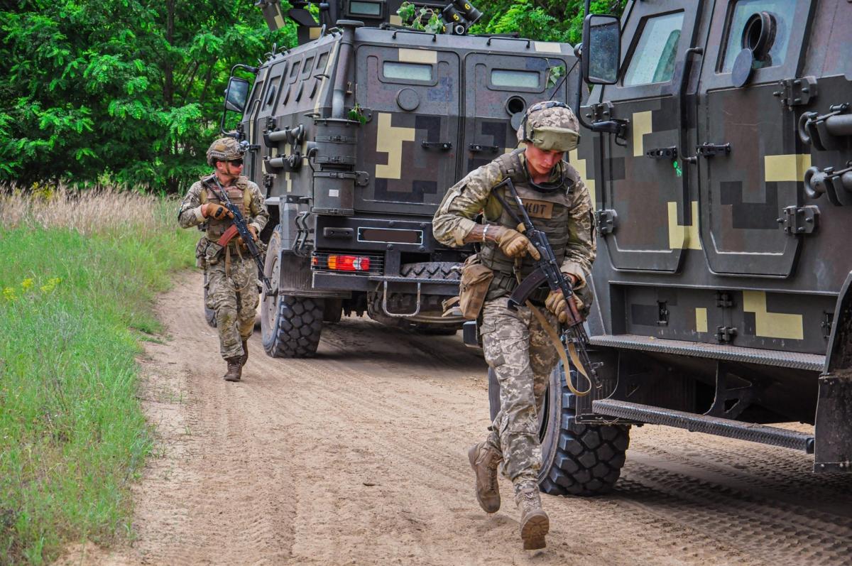 В Олешковских песках проходят многонациональные военные учения / Министерство обороны Украины