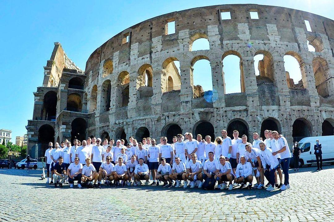 National team of Ukraine near the Colosseum / photo instagram.com/andriyshevchenko
