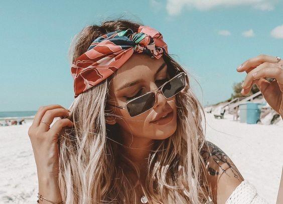 Как носить платок летом 2021 / pinterest.ru