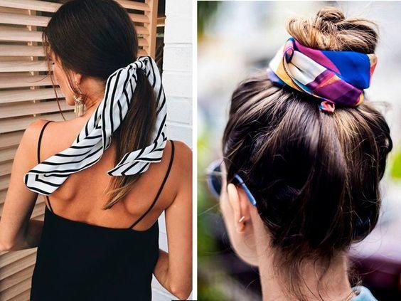 Как носить платок на голове / pinterest.ru