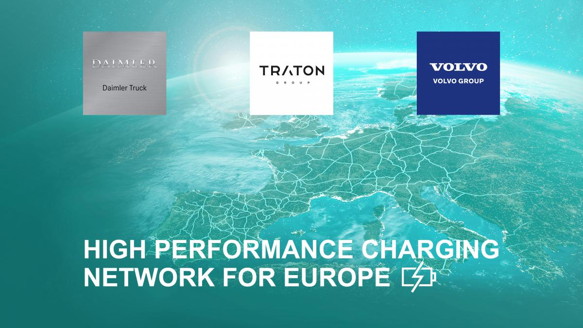 Daimler Truck, Traton Group и Volvo Group договорились развивать сеть мощных зарядных станций / фото daimler.com