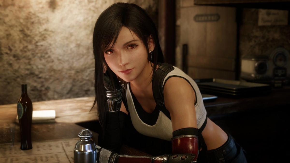 Тифа в Final Fantasy VII Remake / скриншот
