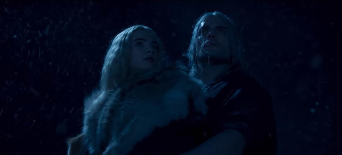 В ролике показали прибытие Геральта и Цири в крепость Каэр Морхен/ скриншот