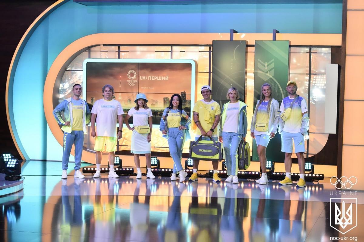 Нова форма олімпійської збірної в жовто-блакитних тонах / фото прес-служба НОК
