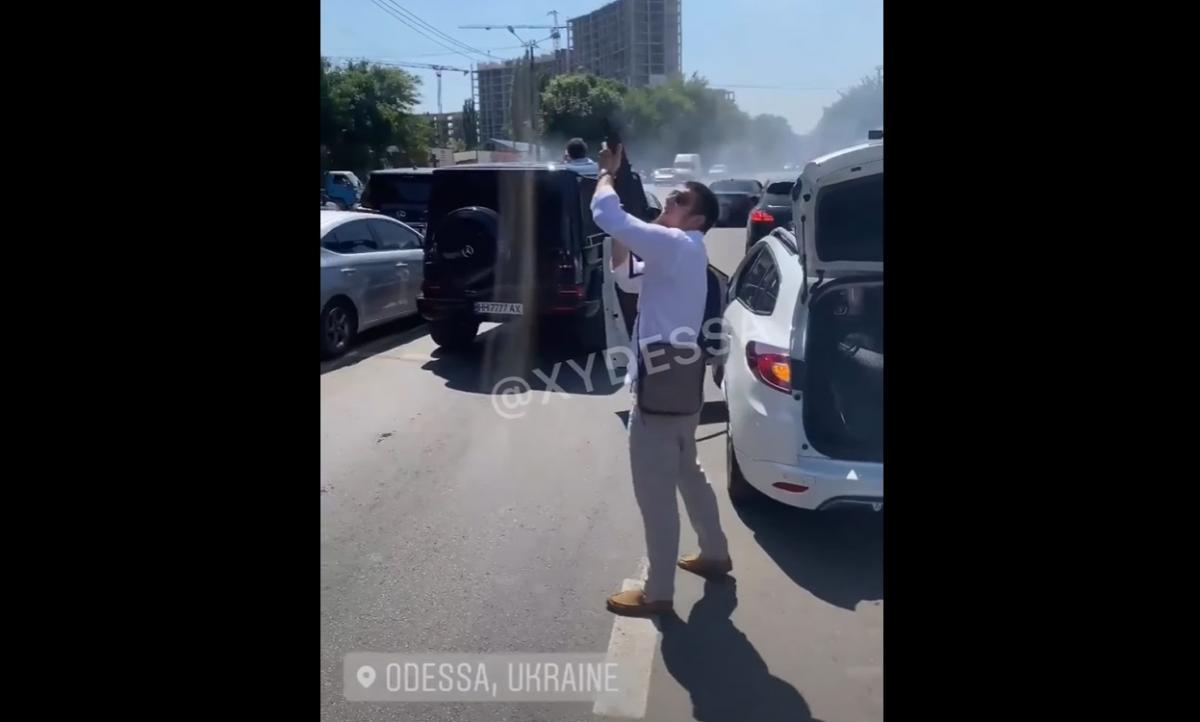 Под Одессой устроили стрельбу на свадьбе / Скриншот с видео