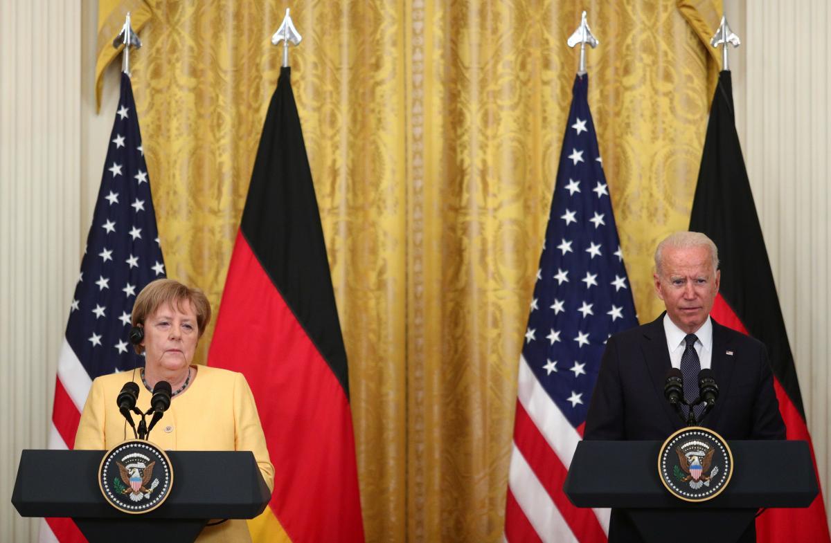 Меркель и Байден встречались в Вашингтоне 15 июля / фото REUTERS
