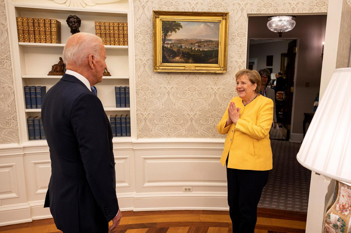 On July 16, Merkel discussed with Biden the completion of PP-2 / Photo: REUTERS