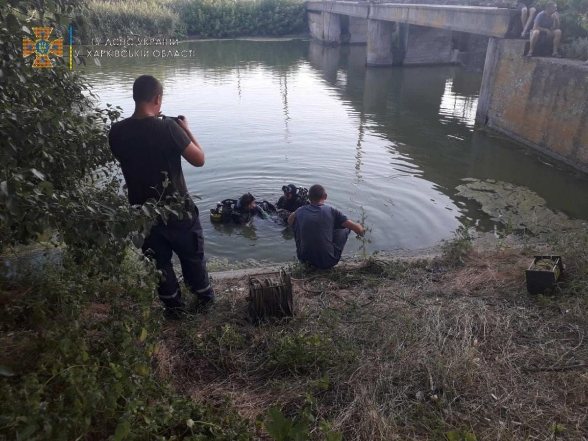 На Харьковщине в техническом водоеме погиб ребенок / фото dsns.gov.ua