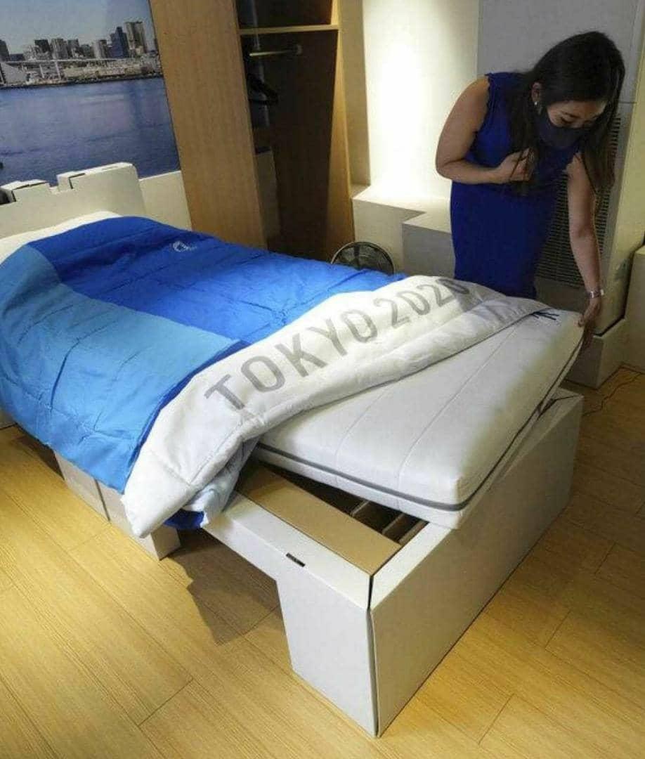 """У Токіо створили для спортсменів Олімпіади картонні """"антисекс-ліжка"""" / фото twitter.com/mrodoficial"""