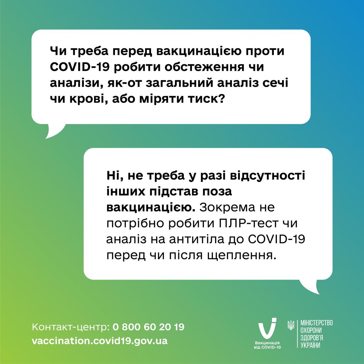 Дополнительные обследования перед вакцинацией ненужные / инфографика Минздрава