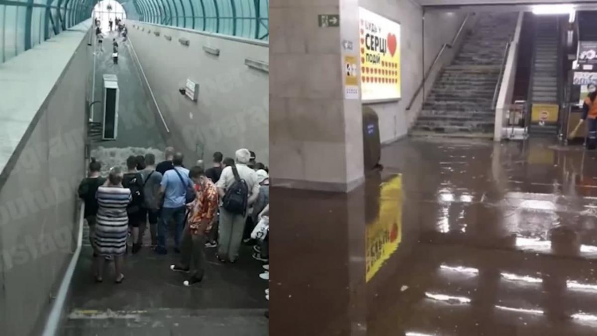 Злива у Києві наробила лиха / колаж УНІАН