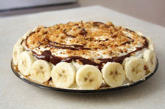 Банановый торт с печеньем / pinterest.ru