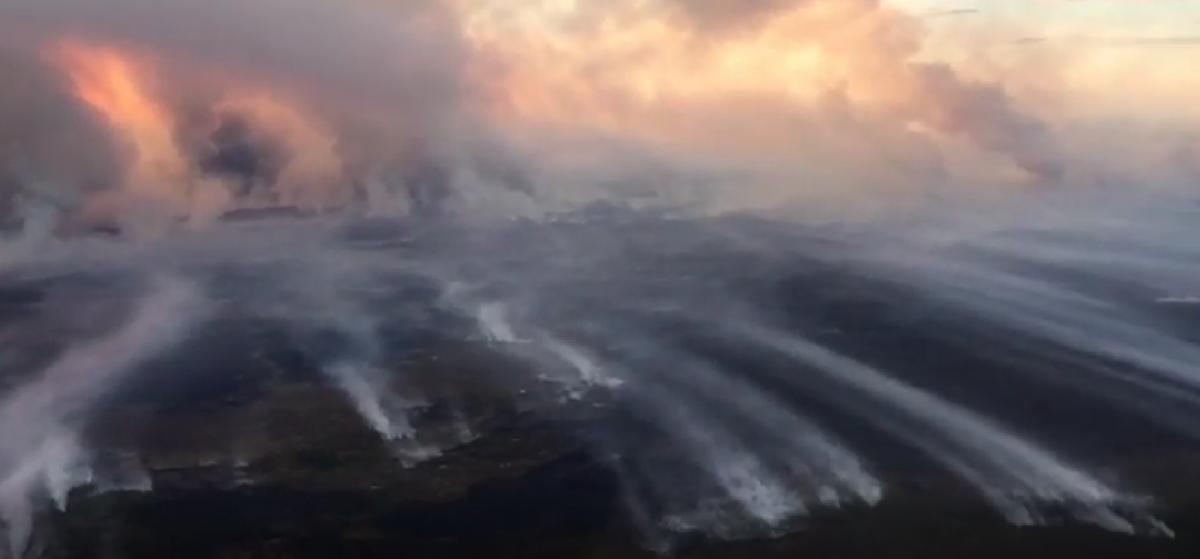 Якутию охватили лесные пожары / скриншот