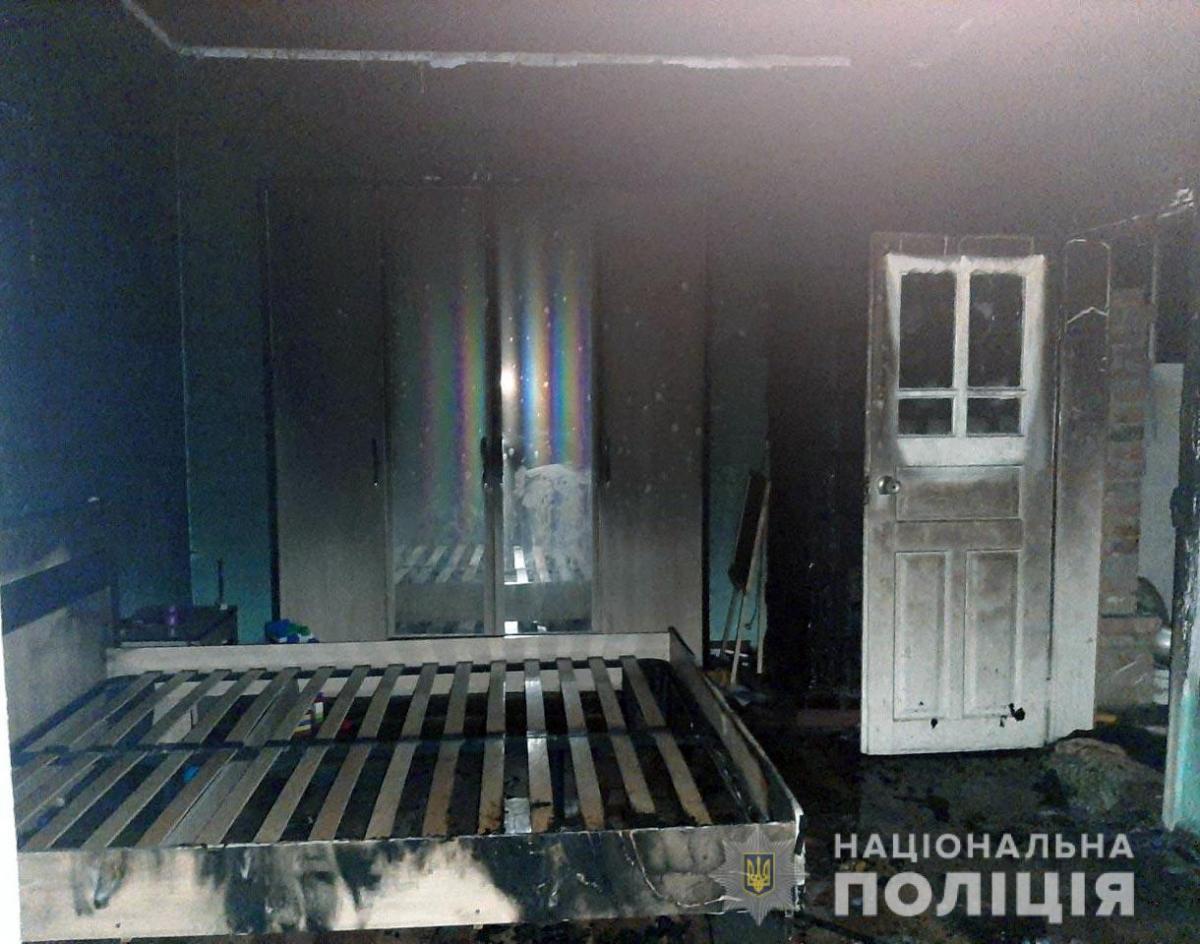 Власниця будинку отримала незначні опіки тіла / фото Нацполіція