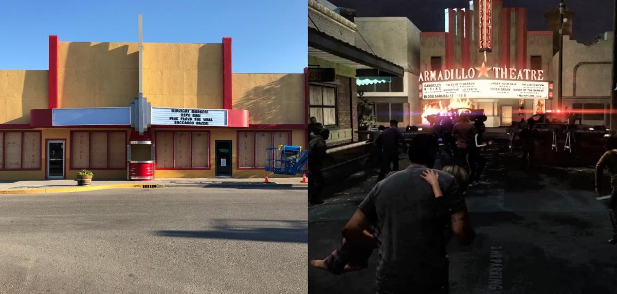 Зліва реальна локація для зйомок, праворуч -кадр з гри / фото twitter.com/IronWolfNetYT