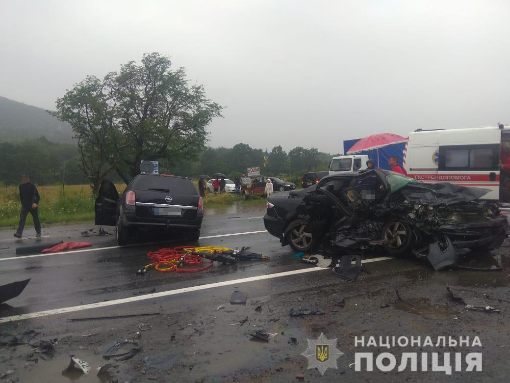 Аварія у Стрийському районі / фото Нацполіція