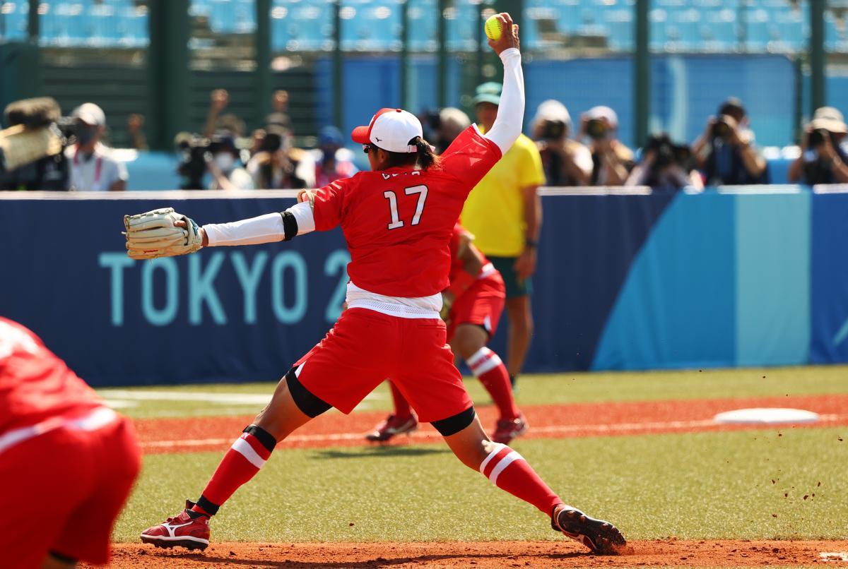 Матч з софтболу Японія - Австралія на Олімпіаді / фото REUTERS