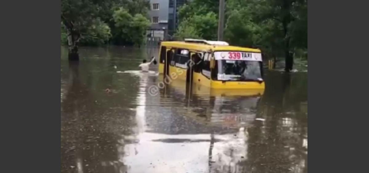 В ночь на 22 июля Одессу накрыл сильнейший ливень за последние 8 лет / Скриншот