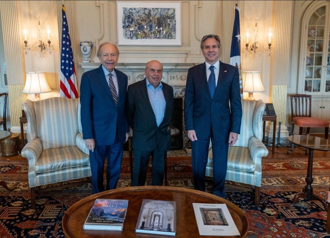 Встреча Щаранского с Блинкеном и Либерманом в Вашингтоне / фото facebook.com/NatanSharansky