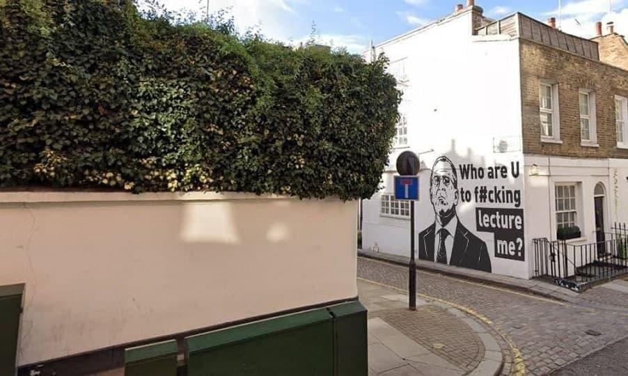 """""""Графіті"""" навіть встигла прокоментувати Марія Захарова / фото LondonChatik в Telegram"""